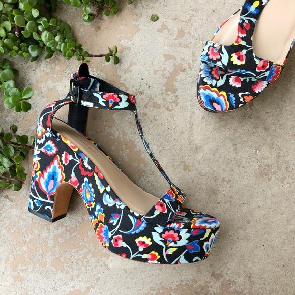 58c8a4bd5fe5 Loeffler Randall Shoes - Loeffler Randall Minette Floral Print Platforms